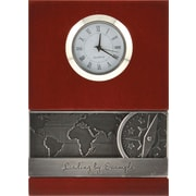 Baudville® Wood Clock with Metal Accent, Leading by Example