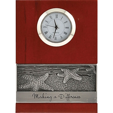Baudville® Wood Clock with Metal Accent,