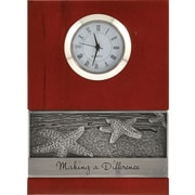 Baudville® Wood Clock with Metal Accent, Making a Difference