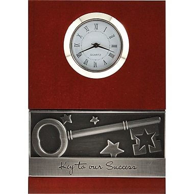 Baudville Wood Clock with Metal Accent, in.Key To Successin.