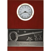 Baudville® Wood Clock with Metal Accent, Key To Success