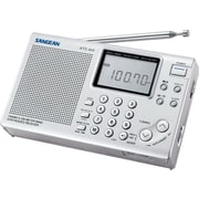 Sangean® Silver World Band Radio w/ FM-Stereo/MW/SW PLL Synthesized Receiver