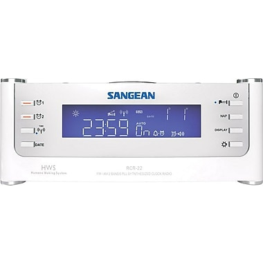 Sangean® FM/AM/Aux-in PLL Synthesized Tuning Clock Radio w/ Radio Controlled Clock