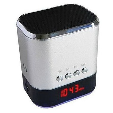 Supersonic® Silver Portable Speaker, 3 W