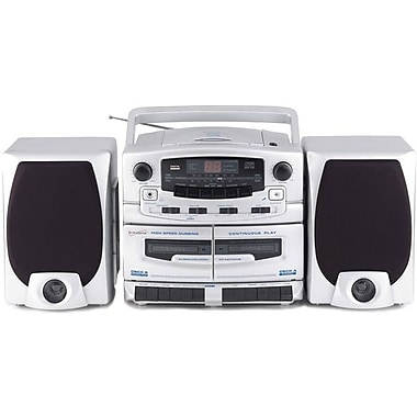 Supersonic® SC2020U Portable Mp3/CD Player w/ Cassette Recorder & AM/FM radio, USB Input