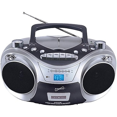 Supersonic® SC709 Portable Mp3/Cd Player w/ Cassette Recorder & AM/FM radio, USB Input