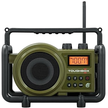 Sangean® Army Green Utility/Worksite Radio w/ AM/FM Ultra Rugged Digital Tuning