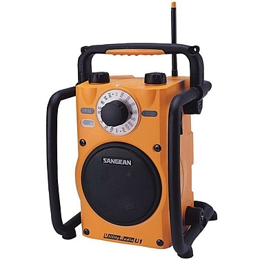 Sangean® Yellow Utility/Worksite Radio w/ FM/AM Ultra Rugged