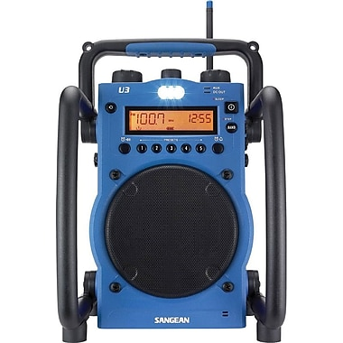 Sangean® Blue Utility/Worksite Radio w/ FM/AM Ultra Rugged Digital Tuning