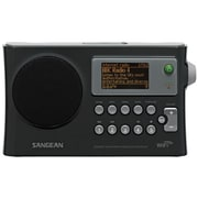 Sangean® Black WiFi Radio w/ Internet Radio/Network Music Player/USB/FM-RDS Digital Receiver