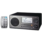 Sangean® Black, White, Walnut Black, Walnut Table Top Radio w/ FM-RDS (RBDS)/AM Wooden Cabinet
