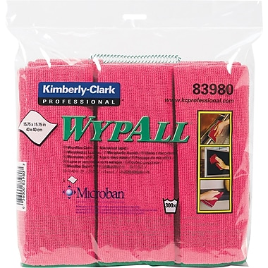 WYPALL Microfibre Cloths, Red, 6-Pack
