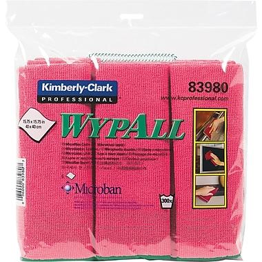 WYPALL – Chiffons en microfibre, rouge, 6/pqt