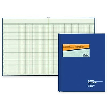 Blueline® A1740C AccountPro Columnar Book, A1740C-20, 20 Columns