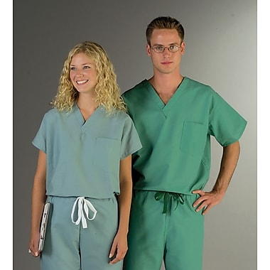 Encore™ Unisex One-pocket Rev Scrub Tops, Royal Blue, MDL-CC, Large