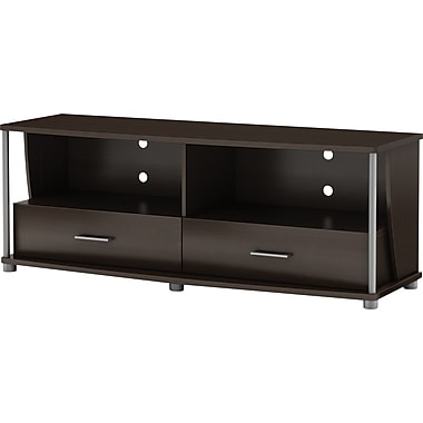 South Shore City Lights 50in. TV Stand, Chocolate Maple