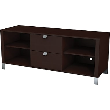 South Shore Sofia TV Stand, Chocolate Maple