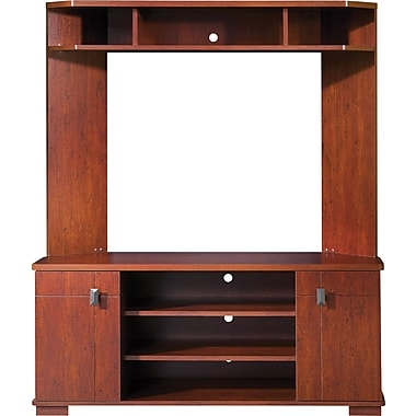 South Shore Turin Corner TV Stand and Hutch, Classic Cherry