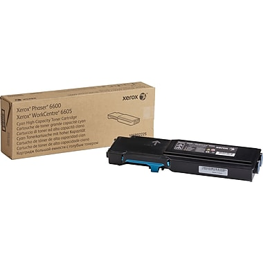 Xerox Cyan Toner Cartridge (106R02225), High Yield