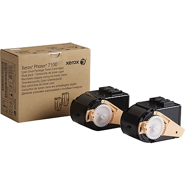 Xerox Phaser 7100 Cyan Toner Cartridges (106R02602), 2/Pack