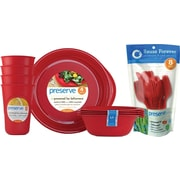 Preserve® Everyday Tabeware & Cutlery Set, Pepper Red, 36-Piece Set