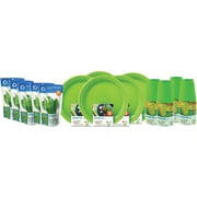 Preserve® On The Go Tableware Set, Apple Green, 200-Piece Set