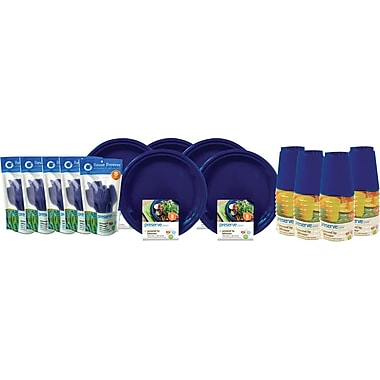 Preserve On The Go Tableware Set, Midnight Blue, 200-Piece Set