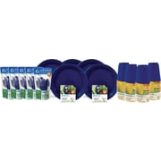 Preserve® On The Go Tableware Set, Midnight Blue, 200-Piece Set