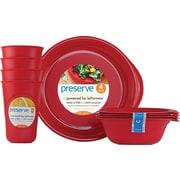 Preserve® Everyday Tableware Set, Pepper Red, 12-Piece Set
