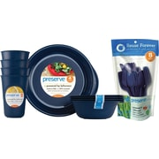 Preserve® Everyday Tableware & Cutlery Set, Midnight Blue, 36-Piece Set