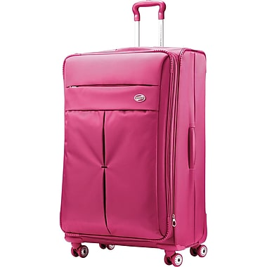 American Tourister Colora 20in. Spinner Softside Luggage, Raspberry