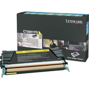 Lexmark™ C736H1YG Yellow Toner Cartridge, High-Yield, Return Program