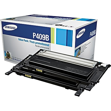 Samsung Black Toner Cartridge (CLT-P409B), 2/Pack