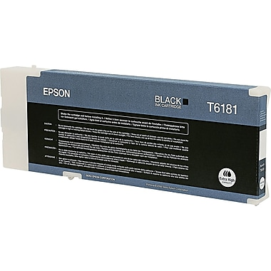 Epson 61 Black Ink Cartridge (T618100), Extra High Yield