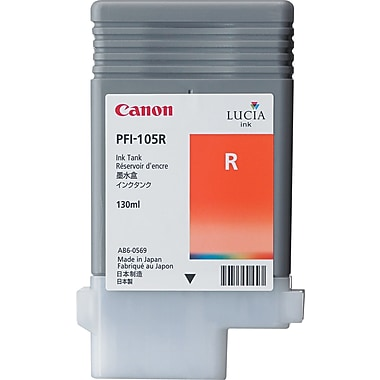 Canon PFI-105 Red Ink Cartridge (3006B001AA), High Yield