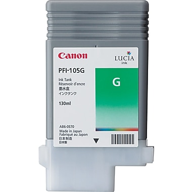 Canon PFI-105 Green Ink Cartridge (3007B001AA), High Yield