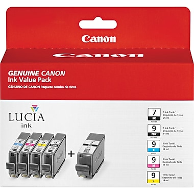 Canon PGI7 Color Ink Cartridge (1034B010), 5/Pack
