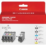 Canon PGI-7BK Black and PGI-9 PBK/C/M/Y Color Ink Cartridges (1034B010), Combo 5/Pack