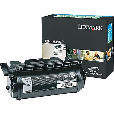 Lexmark X642/644 Black Toner Cartridge (X644H41G), High Yield Return Program