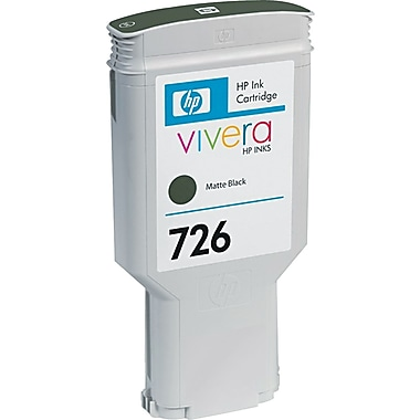 HP 726 Black Matte Ink Cartridge (CH575A)