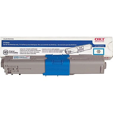 Okidata Cyan Toner Cartridge (44469721), High Yield
