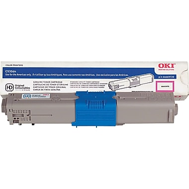 Okidata Magenta Toner Cartridge (44469720), High Yield