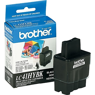 Brother LC41 Black Ink Cartridge (LC41HYBK), High Yield