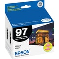 Epson 97 Black Ink Cartridge (T097120D2), Extra High Yield, 2/Pack