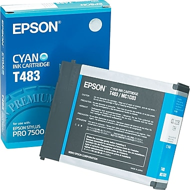 Epson T483 Cyan Ink Cartridge (T483011)