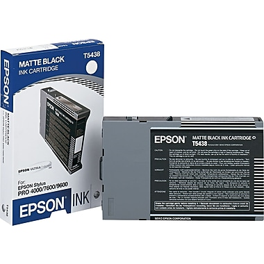 Epson T543800 Matte Black Ultrachrome Ink Cartridge