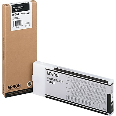 Epson T606 200ml Photo Black UltraChrome Ink Cartridge (T606100), High Yield