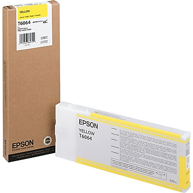 Epson T606 200ml Yellow UltraChrome Ink Cartridge (T606400), High Yield