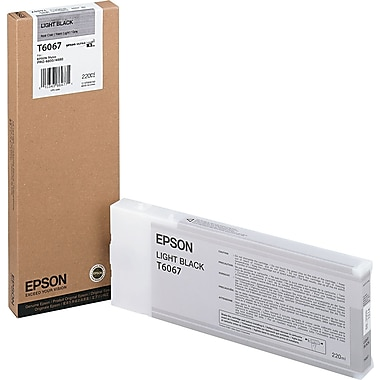 Epson T606 220ml Light Black UltraChrome Ink Cartridge (T606700), High Yield