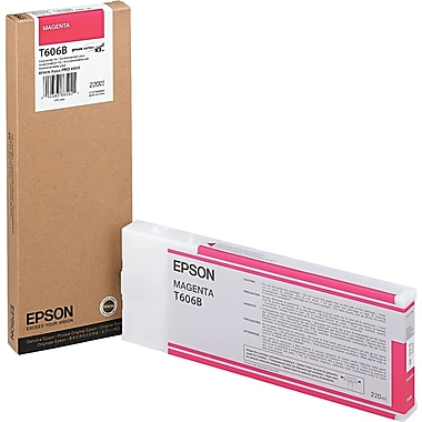 Epson T606 200ml Magenta UltraChrome Ink Cartridge (T606B00), High Yield